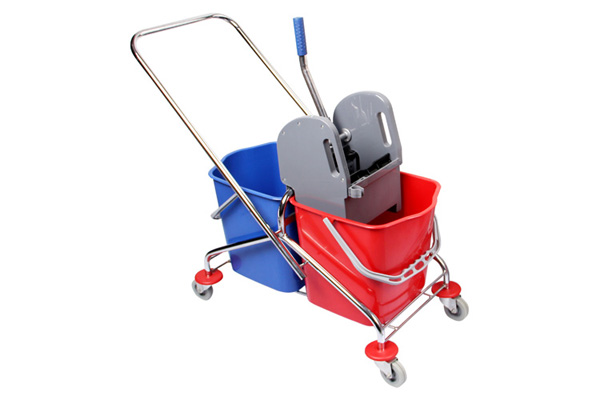 Mop trolley command clear flat cord clips